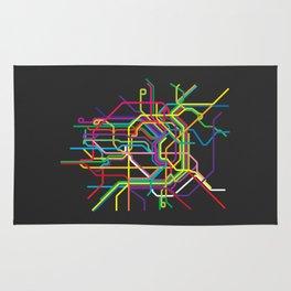 vienna metro map Rug