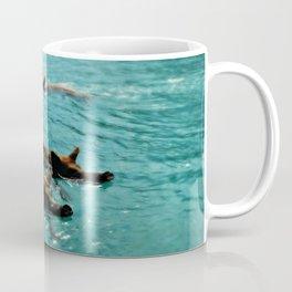 Swimming Pigs In The Exumas, Bahamas, Caribbean  Coffee Mug