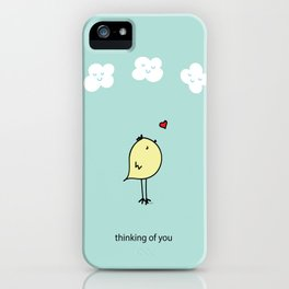 Chirp & Whistle Thinking of You Bird iPhone Case