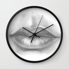Lips Drawing | Seductive Woman | Sexy Lady | Pencil Art | Human Life Drawing | Figures | People Wall Clock