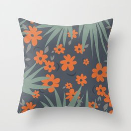 Modern Abstract Floral  Throw Pillow