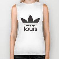 louis tomlinson Biker Tanks featuring Louis Tomlinson Adidas Logo by itzmiri