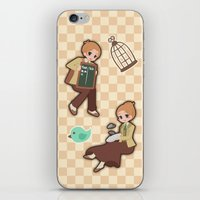 bioshock infinite iPhone & iPod Skins featuring Bioshock Infinite - Luctece Twins by Choco-Minto