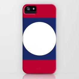 Laos flag emblem iPhone Case