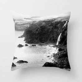 Azores coastal landscape Throw Pillow