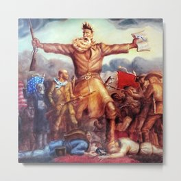 American Masterpiece, Abolitionist John Brown, Tragic Prelude American West portrait painting by John Steuart Curry Metal Print
