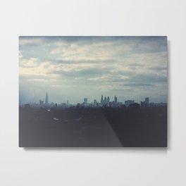 London Skyline Blue Metal Print