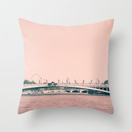 Paris, pont Alexandre III Throw Pillow