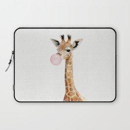 Bubble Gum Baby Giraffe Laptop Sleeve