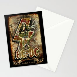 AC/DC angus young Stationery Cards