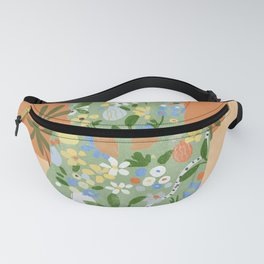 Life With Flowers Fanny Pack