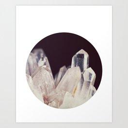Quartz Crystal Three Art Print