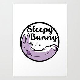 Sleepy Bunny Logo Art Print