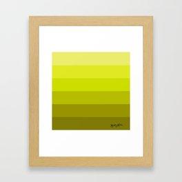 Graduated Colors in Chartruese Framed Art Print