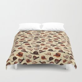A Slew Of Snails Duvet Cover