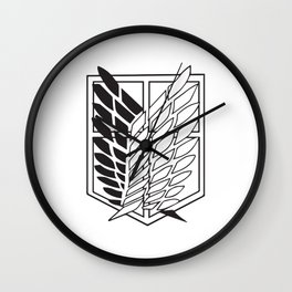 Attack on titan-Wings of freedom- AOT poster- shigenki no kyojin- Levi Acker man, mikasa, historia, Armin, nerd, otaku, geek gifts Wall Clock
