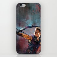 clint barton iPhone & iPod Skins featuring Clint Barton by Wisesnail