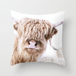 HIGHLAND CATTLE LULU Throw Pillow