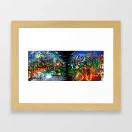 Nintendo Vs Sega Framed Art Print