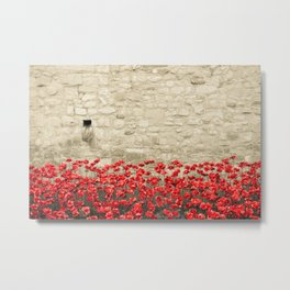 Tower Poppies 01A Metal Print