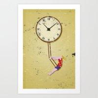 TIme Swings on by Art Print