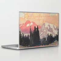 Laptop Skins featuring Storms over Keiisino by Kijiermono