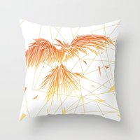 phoenix Throw Pillows featuring Phoenix by ARCHIGRAF