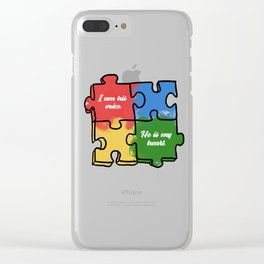 Autism Child Love Puzzle Asperger-Syndrome Gift Clear iPhone Case