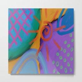 Funky Abstract Digital Painting  Metal Print