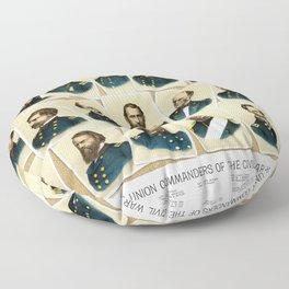 Union Commanders of The Civil War Floor Pillow