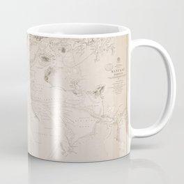 Vintage Map Print - Admiralty chart No 2726 Manukau Harbour, New Zealand, 1863 Coffee Mug