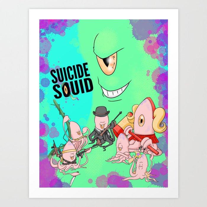 Suicide Squid Art Print