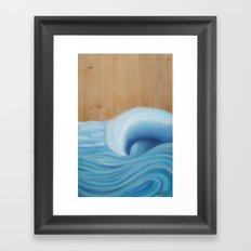 Wooden Wave Scape Framed Art Print