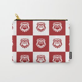 Red and White Nine Bulldog Cares Carry-All Pouch