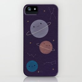 Kawaii Outer Space iPhone Case