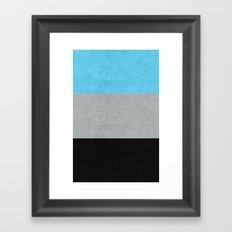 Tri Colour Stripes Framed Art Print