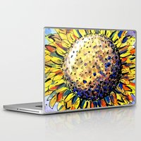 sunflower Laptop & iPad Skins featuring Sunflower by Claudia McBain