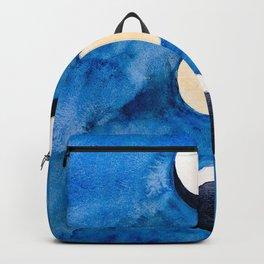 Blue Moons, Minimalist Ethereal Art Print Backpack