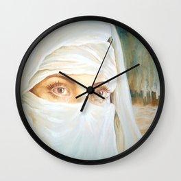 Tears in the desert Wall Clock