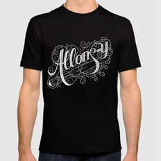 Allons-y! Mens Fitted Tee Black MEDIUM
