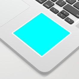 Neon Aqua Blue Bright Electric Fluorescent Color Sticker