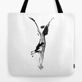 Black and white, minimalist, modern yoga pose illustration for yoga studio, yoga art, drawing, om Tote Bag