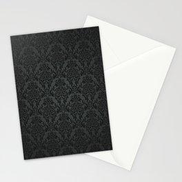 Luxury Black Damask Stationery Cards