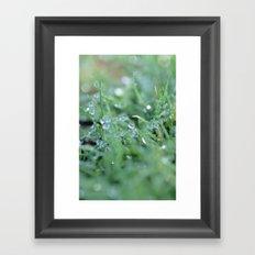 Morning Glitter Framed Art Print