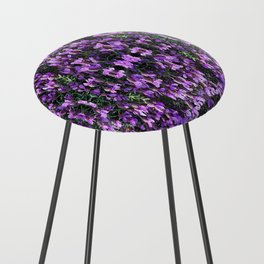 SPANISH LAVENDER AND ONE BEE Counter Stool