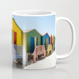 Colorful beach huts Coffee Mug