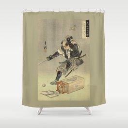 Samurai worrior ukiyoe print Shower Curtain