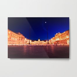 The square of Trieste during Christmas time Metal Print