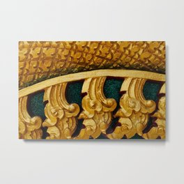 Close-up of golden pattern in Thai temple Metal Print