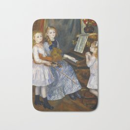 Auguste Renoir  -  The Daughters Of Catulle Mendes  Huguette  Claudine And Helyonne Bath Mat